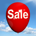 Sale balloon shows discount and offers in selling showing Stock Photography