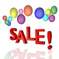 Sale with balloons! Royalty Free Stock Images
