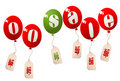 On sale balloons Royalty Free Stock Photos