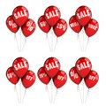 Sale balloons Royalty Free Stock Images