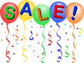 Sale Balloons/eps Royalty Free Stock Photo
