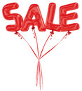 Sale balloons red spelling on white Royalty Free Stock Photo