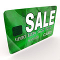 Sale bank card means retail price reduction meaning Royalty Free Stock Photo