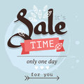 Sale banner in blue and brown color Stock Images