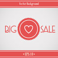 Sale Banner with Heart Royalty Free Stock Photos