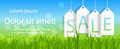 Sale banner with place for your text vector illustration Royalty Free Stock Image