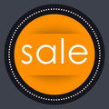 Sale Banner Template Design. Orange Round Advertising Label