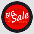 Sale Banner Template Design. Red Round Advertising Label