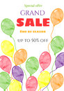 Sale banner template . Sale poster. Grand sale, special offer, discounts.