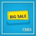 Sale banner. Vector.
