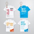 Sale banners price tag paper card template shirt origami collection vector Royalty Free Stock Photography