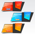 Sale banners set of square modern design Stock Photo