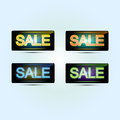 Sale banners vector illustration of Stock Images