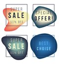 Sale, best offer vector gradient colorful banners Royalty Free Stock Photo