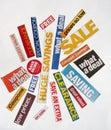 Sale blurbs Royalty Free Stock Photos
