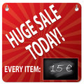 Sale board with wipeable blackboard for price Royalty Free Stock Image