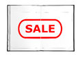 Sale in book drawing symbol the Royalty Free Stock Photos