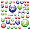Sale buttons collection Stock Images