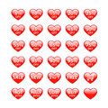 Sale buttons heart shaped Royalty Free Stock Photo