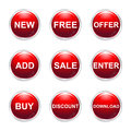 Sale buttons illustration of on white background Stock Images