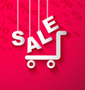 Sale cart background shopping sample Royalty Free Stock Photo