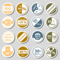 Sale color circle stickers set for discount shop eps Royalty Free Stock Photos