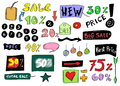 Sale colorful doodles Royalty Free Stock Photography