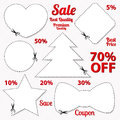 Sale coupon tag cut off template scissors patt vector set labels banner white vector design layout with blank frame dotted line Stock Images