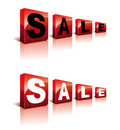 Sale Cubes Royalty Free Stock Images