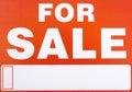?For Sale? de signe Images libres de droits
