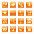 Sale & delivery icons Royalty Free Stock Photography