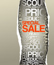 Sale discount advertisement Stock Image