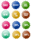 Sale Discount Badge Sets Royalty Free Stock Photography