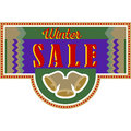 Sale and discount card, banner, flier. Winter sale title Royalty Free Stock Photo