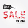 Sale discount icons styled black friday advertising price tag b banners vector Stock Photo