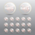 Sale discount percent tag transparent effect Royalty Free Stock Photo