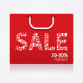 Sale discount shopping bag styled advertising banners vector Royalty Free Stock Photos