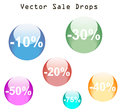 Sale drops illustration isolated over white background Royalty Free Stock Images