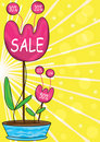Sale Flowers_eps Stock Photos