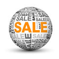 Sale globe Royalty Free Stock Photography
