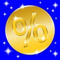 Sale gold button Royalty Free Stock Photo