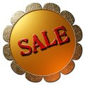 Sale (Golden Seal Red Lettering) Royalty Free Stock Photo