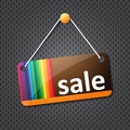 Sale hanging sign Stock Photo