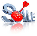 Sale high resolution rendering of a icon Royalty Free Stock Image