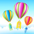 Sale Hot Air Balloon Stock Photo