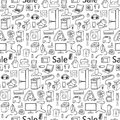 Sale household appliances seamless pattern