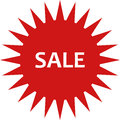 Sale icon illustrated Royalty Free Stock Photo