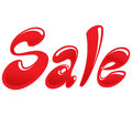 Sale icon with red cartoon text image like bubbles Stock Photos