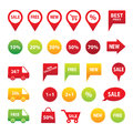 Sale icon set Royalty Free Stock Photo