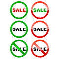 Sale icons set on a white background Stock Photography